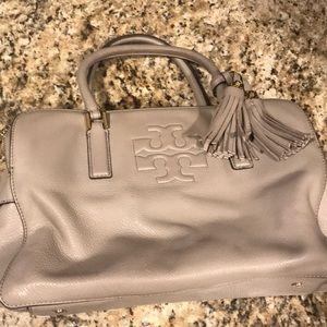 Grey and gold Tory Burch handbag
